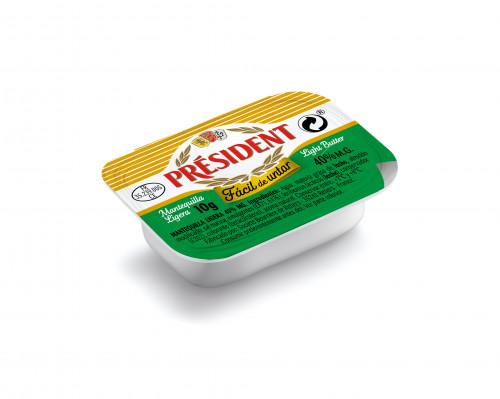 President lanza la primera microtarrina de mantequilla fácil de untar para hostelería